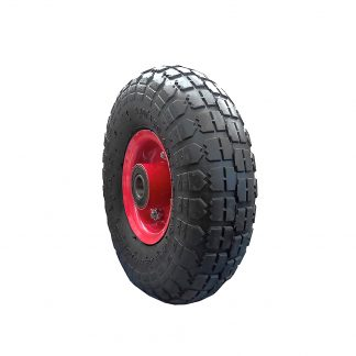 "10"" Wheelbarrow Wheel 3.5 x 4 Barrow Mower Trolley Trailer Pneumatic 19mm Bore"