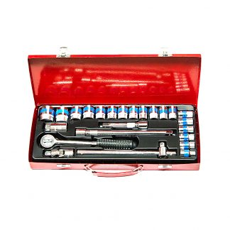 "24 PIECE 1/2"" DRIVE SOCKET WRENCH SET In Case High Standard"