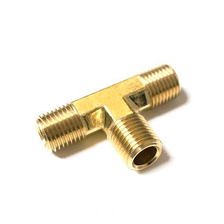"Male Stud Equal Tee 1/4"" Connectors Air Fuel Pipe Nipples Fittings 4357"