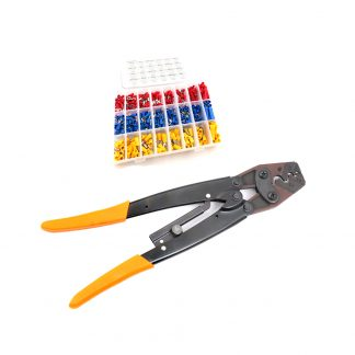 50 AMP Cable Crimping Pliers + 400 Connectors Wire Crimper Terminal Battery Lug
