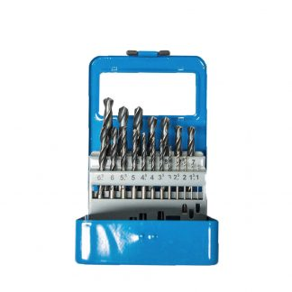 Twisted HSS Drill Bits Set 19 Piece 1-10mm for Stainless Steel In Metalbox