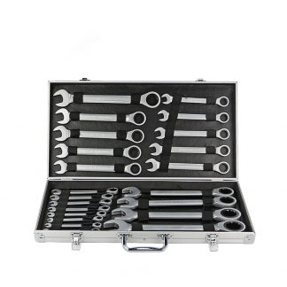 22-Piece Combination Ratchet Spanner Set Open Ring End