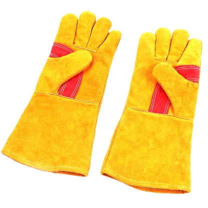 Electric Welding Gloves Leather DuPont Temperature Resistance Heat Insulation