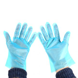 Disposable Food Grade Gloves Blue Polythene TPE Gloves One Size