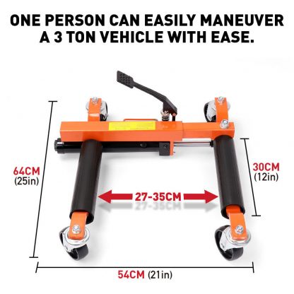 2 Piece Hydraulic Vehicle Positioning Jack Wheel Dolly Car Lift