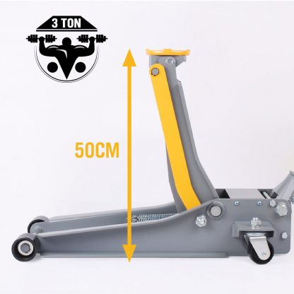 3 Ton Low Profile Hydraulic Trolley Jack + 2 Jack Stands Auto Car Truck SUV 4WD