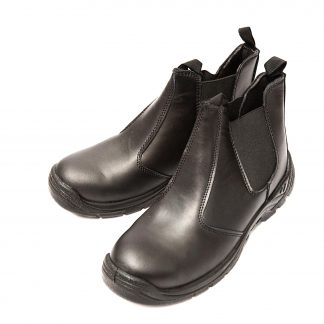 Mens Safety Shoes Toe Cap Heavy Duty Work Boots No-Lace Black