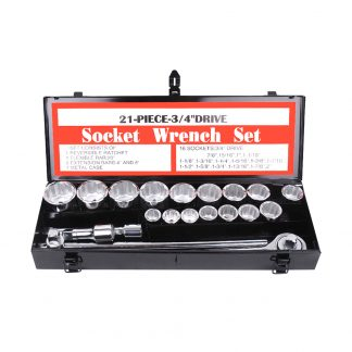 "3/4"" Drive Socket Set 21-Piece Heavy Duty Truck Wrench Spanner Ratchet"