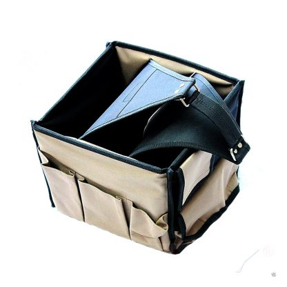 "11"" HD Square Tool Bag 19 pockets Electrical Plumber Storage Carrier"