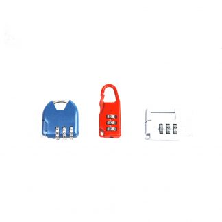 3pc Travelling Padlock 3 Digits Combination Security Locks Luggage Lock