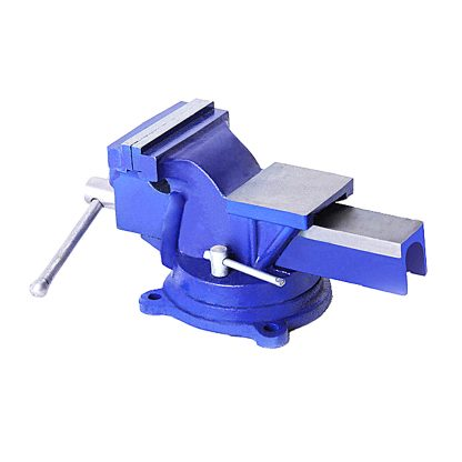 """5"""" x 5"""" Super HD Bench Vise Swivel Clamp Table Base Grip Capacity"""