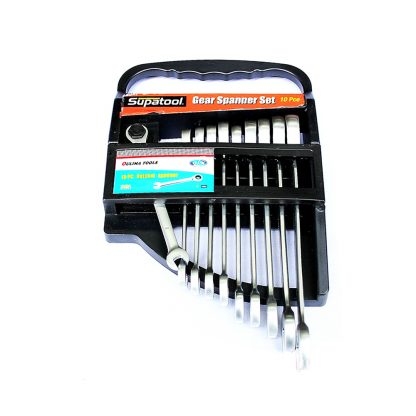 10 Ratchet Spanner Set Metric Combination Wrench Ring
