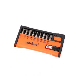 10 Piece Power Drive Bits FLAT PHILLIP TORX SCREWDRIVER Nutdriver
