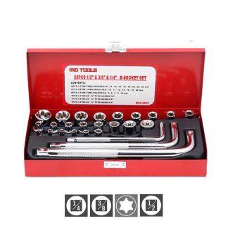 """26-Piece Torx Star Socket Wrench Bit Set 1/4"""" 3/8"""" 1/2"""""""