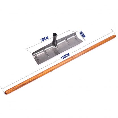 500mm Wide Concrete Placer Rake Cementer Tool Wood Handle Master Finish