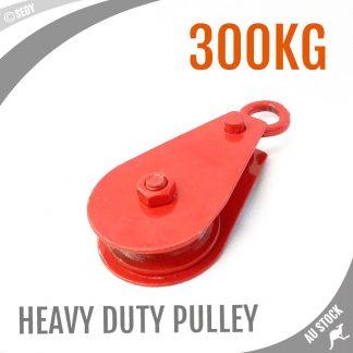 15x7cm Heavy Duty 0 3 Ton Steel Industry Wheel Hoist Pulley Block Swivel  Hooks